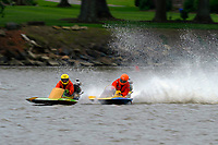Frame 4: 300-P comes together with 911-Q, turns away and then is ejected from the boat.   (Outboard Hydroplanes)