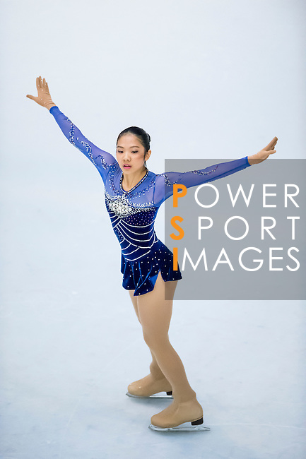 Masinee Chayngura competes during the Asian Junior Figure Skating Challenge 2015 on October 07, 2015 at the Festival Walk Mall in Hong Kong, China. Photo by Aitor Alcalde/ Power Sport Images