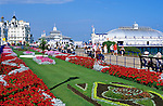 United Kingdom, England, East Sussex, Eastbourne: The Promenade and gardens