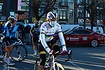 World Champion Anna Van Der Breggen (NED) Team SD Worx arrives at the team presentations before the start of Liege-Bastogne-Liege Femmes 2021, running 141km from Bastogne to Liege, Belgium. 25th April 2021.  <br /> Picture: A.S.O./Gautier Demouveaux | Cyclefile<br /> <br /> All photos usage must carry mandatory copyright credit (© Cyclefile | A.S.O./Gautier Demouveaux)
