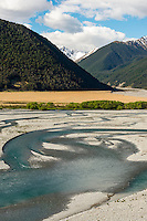 Waimakariri River near Arthur's Pass in Canterbury, South Island, New Zealand