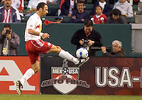 Red Bulls Forward Youri Djorkaeff stops a ball on his foot during a 0-0 tie between the Chivas USA vs New York Red Bulls in a game at The Depot Center in Carson, California Saturday, April, 29, 2006.