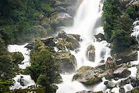 Roaring Billy waterfalls, South Westland, West Coast, World Heritage Area, New Zealand