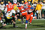 Sam Houston State Bearkats wide receiver Torrance Williams (10) in action during the FCS Championship game between the North Dakota State Bison and the Sam Houston State Bearkats at the FC Dallas Stadium in Frisco, Texas. North Dakota defeats Sam Houston 39 to 13..