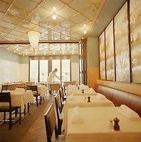 Inside a restaurant being set-up in Stockholm, Sweden