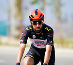 Black Jersey Thomas De Gendt (BEL) lotto-Soudal lines up for the start of Stage 6 of the 2021 UAE Tour running 165km from Deira Island to Palm Jumeirah, Dubai, UAE. 26th February 2021.  <br /> Picture: Eoin Clarke   Cyclefile<br /> <br /> All photos usage must carry mandatory copyright credit (© Cyclefile   Eoin Clarke)