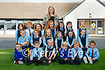 Teacher Terese Kearney with her new Junior Infants starting school at Kilmurray NS, Cordal on Monday, seated l-r: Ethan Quirke, Eamonn O'Donoghue, Katie O'Sullivan, Donagh Walsh, Kyle Sugrue and Donal Egan. Middle: Ryan Quirke, Alison O'Donoghue, Sorcha Culhane, Fiadh Culhane, Ellen and Sinéad Keane. Back l-r: Jane McElligott, Liam Dennehy O'Donoghue, Emma O'Sullivan, Eliza Stack, Amber Griffin, Aoife McAuliffe and Róisín McAuliffe.
