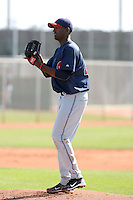 Alexander Perez, Cleveland Indians 2010 minor league spring training..Photo by:  Bill Mitchell/Four Seam Images.