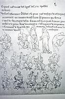Visual Arts:  Villlard De Honnecourt, Plate 2.  From Theorore Bowie, Ed., THE SKETCHBOOK OF VILLARD DE HONNECOURT.  Indiana Univ. , 1959.  Active circa 1225-1250.