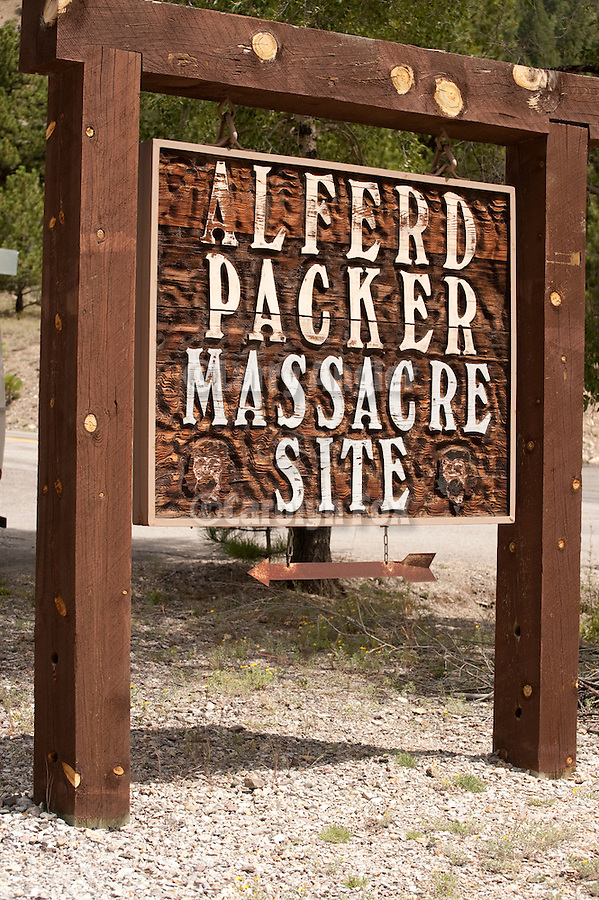 Alferd Packer Massacre site near Lake City, Colorado.In the winter of 1874 Alferd Packer killed and ate six victims here. Five were Democrats...