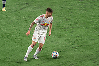 FOXBOROUGH, MA - MAY 22: Patryk Klimala #10 of New York Red Bulls looks to pass during a game between New York Red Bulls and New England Revolution at Gillette Stadium on May 22, 2021 in Foxborough, Massachusetts.