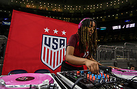 New Orleans, LA - Thursday October 19, 2017: USWNT vs South Korea during an International friendly match between the Women's National teams of the United States (USA) and South Korea (KOR) at Mercedes Benz Superdome.