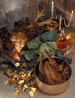 Europe/France/Poitou-Charentes/16/Charente/Cognac: Coq flambé au cognac