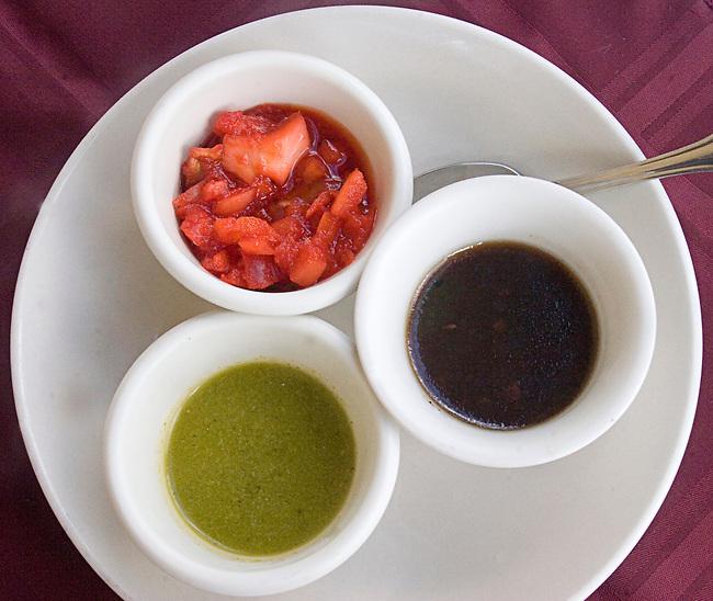 Condiments, Heelsha Restaurant, Adventura, Miami, Florida