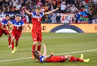 SAN FRANCISCO, CA - May 27, 2014: USA vs Azerbaijan match at Candlestick Park Stadium in San Francisco, CA. Final score USA 2, Azerbaijan 2.