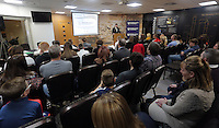 Pictured: Graham Smith Wednesday 25 November 2015<br /> Re: Schools take part in this year's Premier League Enterprise vent at Penderyn Suite, Liberty Stadium, Swansea, UK