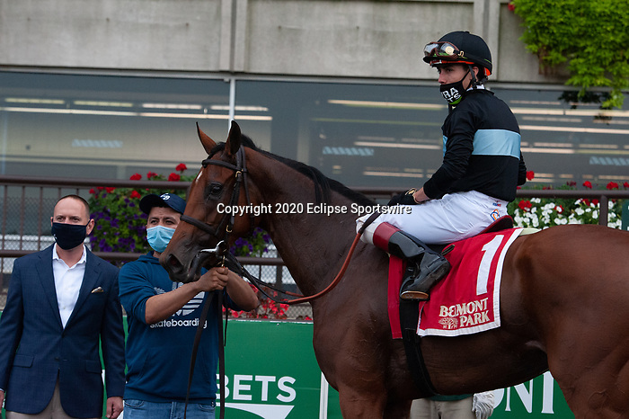 October 10, 2020: Tamahere (FR), ridden by Irad Ortiz Jr., wins the 2020 running of the G2 Sands Point S. at Belmont Park in Elmont, NY. Sophie Shore/ESW/CSM