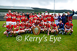 The Dingle team celebrate winning the Division Football League final over Kerins O'Rahilly's at Annascaul on Sunday.