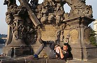 Brückenfigur der Karlsbruecke, Prag, Tschechien, Unesco-Weltkulturerbe