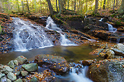 Tecumseh Brook in Waterville Valley, New Hampshire during the autumn month of October. This is believed to be Tecumseh Rapids. Mount Tecumseh is named for the great Shawnee war chief, Tecumseh (1768–1813).