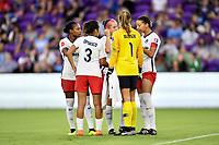 Orlando, FL - Saturday July 07, 2018: Washington Spirit during the first half of a regular season National Women's Soccer League (NWSL) match between the Orlando Pride and the Washington Spirit at Orlando City Stadium.