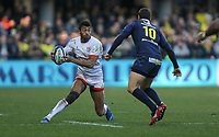 11 January 2020; Robert Baloucoune of Ulster in action during the Heineken Champions Cup Pool 3 Round 5 match between ASM Clermont Auvergne and Ulster at Stade Marcel-Michelin in Clermont-Ferrand, France. Photo by John Dickson/DICKSONDIGITAL