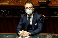 The Minister of Justice Alfonso Bonafede during the information at the Lower Chamber about the Government crisis..<br /> Rome(Italy), January 18th 2021<br /> Photo Samantha Zucchi/Insidefoto