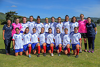 The Auckland girls' under-16 team. 2019 National Age Group Tournament at Memorial Park in Petone, Wellington, New Zealand on Thursday, 11 December 2019. Photo: Dave Lintott / lintottphoto.co.nz