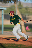 Daniel Ureste (52), from Merced, California, while playing for the Athletics during the Under Armour Baseball Factory Recruiting Classic at Red Mountain Baseball Complex on December 29, 2017 in Mesa, Arizona. (Zachary Lucy/Four Seam Images)