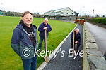 Michael Cronin Chairman left with Sean Devane and Paddy O'Keeffe working on the new walking path being laid around Spa GAA grounds