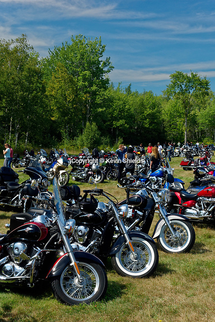 Motorcycles at the annual motorcycle event, Owls Head Transportation Museum, Maine