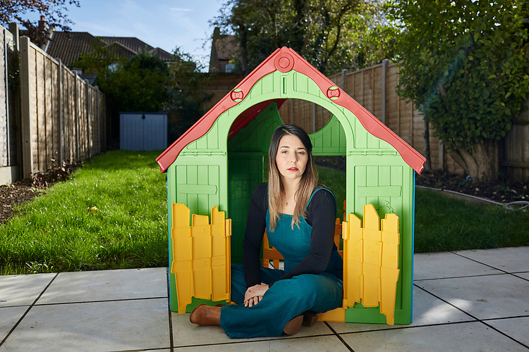 Photograph copyright 2020 - John Angerson. <br /> Children's author Esther Marshall who has just written a new book called ' It's Okay to not be okay'. Photographed at her home in Mill Hill London.