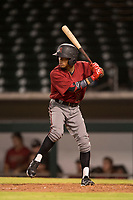 AZL Diamondbacks second baseman Marshawn Taylor (11) at bat during an Arizona League game against the AZL Cubs 1 at Sloan Park on June 18, 2018 in Mesa, Arizona. AZL Diamondbacks defeated AZL Cubs 1 7-0. (Zachary Lucy/Four Seam Images)