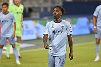 KANSAS CITY, KS - SEPTEMBER 02: Gerso Fernandes #12 of Sporting Kansas City during a game between FC Dallas and Sporting Kansas City at Children's Mercy Park on September 02, 2020 in Kansas City, Kansas.