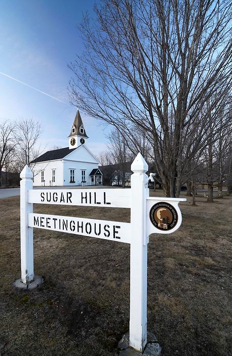 Twilight in Sugar Hill, New Hampshire.