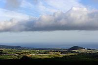 Blick von Serra do Cume auf der Insel Terceira, Azoren, Portugal