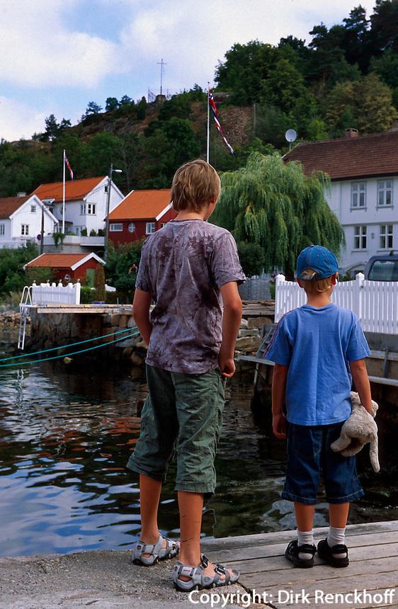 Norwegen, Drøbak bei Oslo,  beim Anleger  Sundbrygga