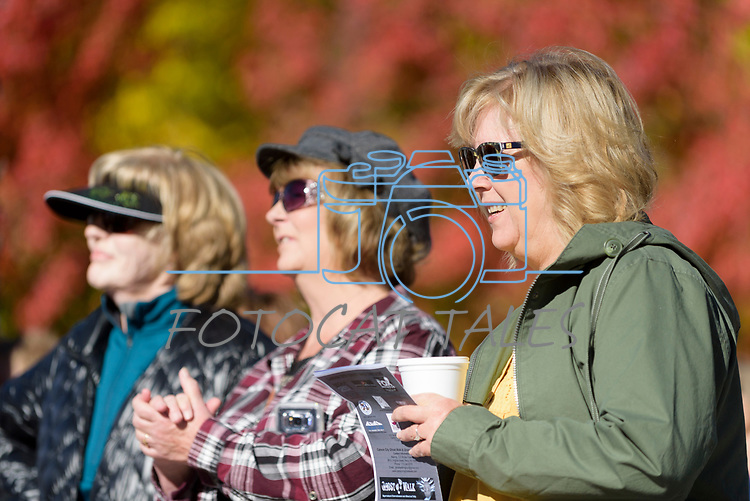From left, Vivian Austin, Rajena Andrews and Sally Ravenella attend the Ghost Walk in Carson City to learn more about the historical west side of the city Saturday, Oct. 21, 2017.<br /> Photo by Candice Nyando/Nevada Momentum