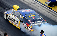 Jun. 29, 2012; Joliet, IL, USA: NHRA pro stock driver Rodger Brogdon during qualifying for the Route 66 Nationals at Route 66 Raceway. Mandatory Credit: Mark J. Rebilas-