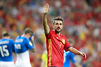 Spain's David Villa celebrates the victory in the FIFA World Cup 2018 Qualifying Round match. September 2,2017.(ALTERPHOTOS/Acero)