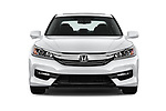 Car photography straight front view of a 2017 Honda Accord EX-L 4 Door Sedan Front View