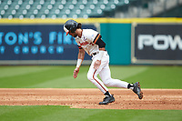 Andrew Fregia (7) of the Sam Houston State Bearkats takes off for second base during the game against the Vanderbilt Commodores in game one of the 2018 Shriners Hospitals for Children College Classic at Minute Maid Park on March 2, 2018 in Houston, Texas. The Bearkats walked-off the Commodores 7-6 in 10 innings.   (Brian Westerholt/Four Seam Images)