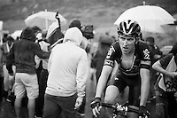 Geraint Thomas (GBR/SKY) after finishing the super-soaked stage 9 finale in Andorra Arcalis (coming from Velha Val d'Aran/ESP, 184km)<br /> <br /> 103rd Tour de France 2016
