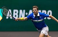 Rotterdam, The Netherlands, 4 march  2021, ABNAMRO World Tennis Tournament, Ahoy, Second round single: Hubert Hurkacz (POL).<br /> Photo: www.tennisimages.com/henkkoster