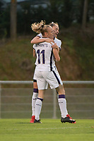 Tessa Wullaert (27) of Anderlecht pictured celebrating a goal with her teammates during a female soccer game between RSC Anderlecht Dames and AA Gent Ladies  on the fourth matchday of the 2021 - 2022 season of Belgian Womens Super League , friday 10 th of September 2021 in Overijse , Belgium . PHOTO SPORTPIX | DIRK VUYLSTEKE