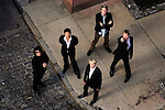 NEW YORK  -  SEPTEMBER 21, 2004:  Duran Duran poses for a portrait in Tribeca on September 21, 2004 in New York City.  The English music group from Birmingham, United Kingdom was one of the most commercially successful bands in the 1980's.  Clockwise from bottom: Nick Rhodes, Andy Taylor, Roger Taylor, John Taylor and Simon LeBon.  (PHOTOGRAPH BY MICHAEL NAGLE)