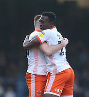 Blackpool's Oliver Turton celebrates scoring his side's first goal with Joe Dodoo<br /> <br /> Photographer Rob Newell/CameraSport<br /> <br /> The EFL Sky Bet League One - Southend United v Blackpool - Saturday 17th November 2018 - Roots Hall - Southend<br /> <br /> World Copyright © 2018 CameraSport. All rights reserved. 43 Linden Ave. Countesthorpe. Leicester. England. LE8 5PG - Tel: +44 (0) 116 277 4147 - admin@camerasport.com - www.camerasport.com