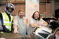 The Driving Standards Agency played host to TV's 'The Hairy Bikers' on their stand at the NEC Bike Show
