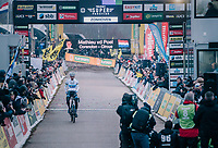 Mathieu van der Poel (NED/Corendon-Circus) demonstrating his dominance once again by winning his 5th of the 5 Super Prestige races so far this season <br /> <br /> Superprestige Zonhoven (BEL) 2018