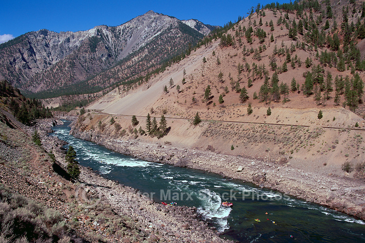 Thompson River near Spences Bridge, BC, British Columbia, Canada - White Water / Whitewater Rafting and Kayaking